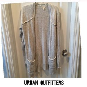 Urban Outfitters Silence +Noise Gray Long Cardigan
